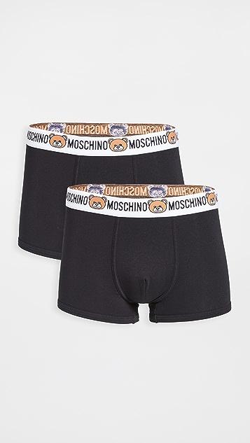 Moschino Moschino Bear 2 Pack Trunks