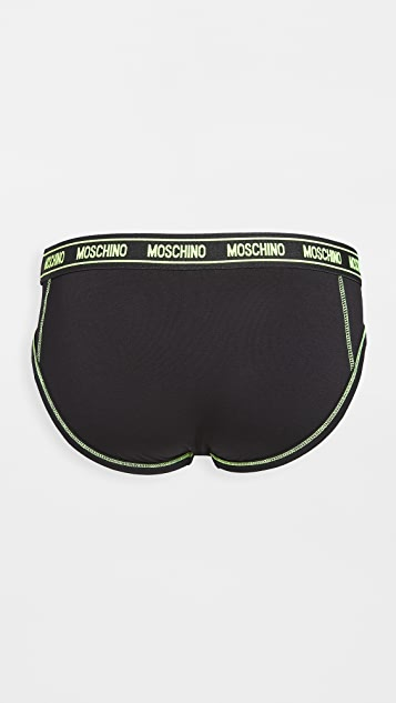 Moschino Neon Stitch Briefs