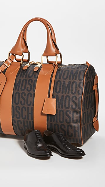 Moschino Logo Print Travel Bag