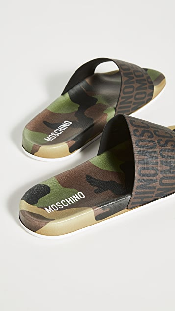 Moschino Pool Slides