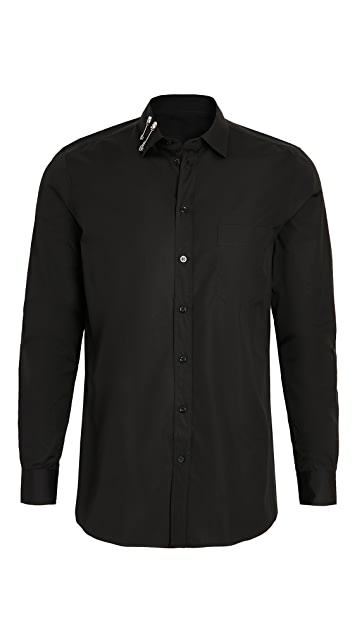 Moschino Safety Pin Collar Button Down Shirt