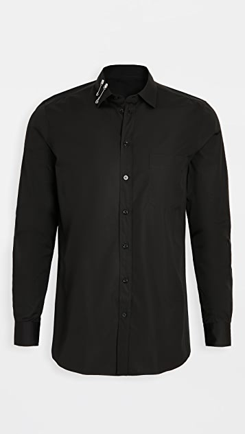 Moschino Safety Pin Collar Button Down Shirt