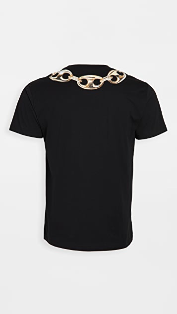 Moschino Large Ring Necklace T-Shirt