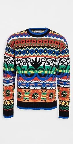 Moschino - Fantasy Fair Isle Crew Neck Sweater