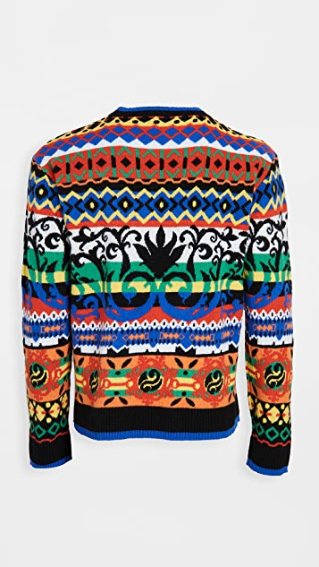 Moschino Fantasy Fair Isle Crew Neck Sweater