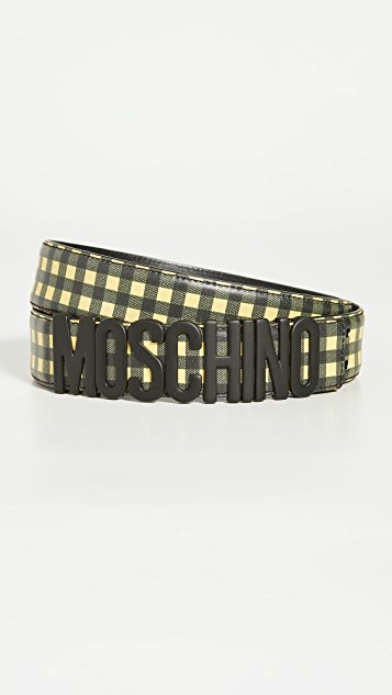 Moschino Moschino Leather Logo Belt