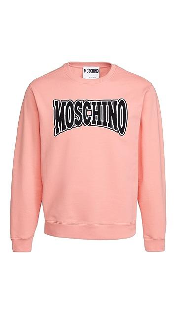 Moschino Fantasy Embroidered Logo Sweatshirt