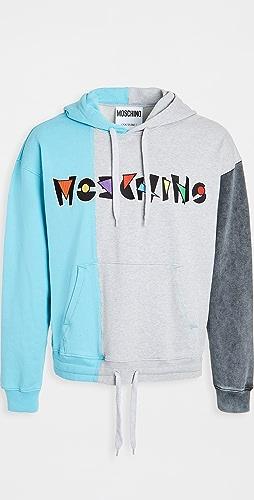 Moschino - Patchwork Fantasy Logo Hoodie