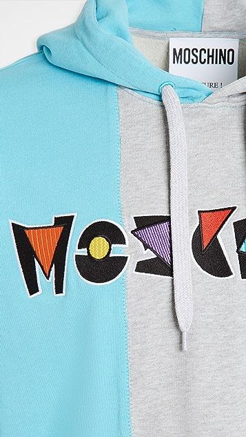 Moschino Patchwork Fantasy Logo Hoodie