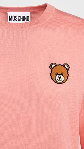 Moschino Teddy Bear Crew Neck Sweater