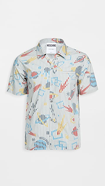 Moschino Planet Print Shirt