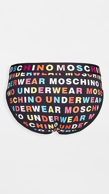 Moschino Multicolor Logo Briefs