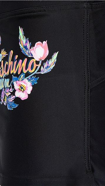 Moschino Flower Logo Swim Suit