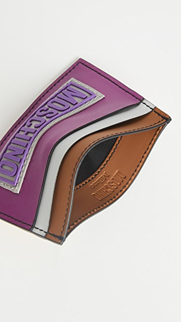 Moschino Colorblock Cardholder