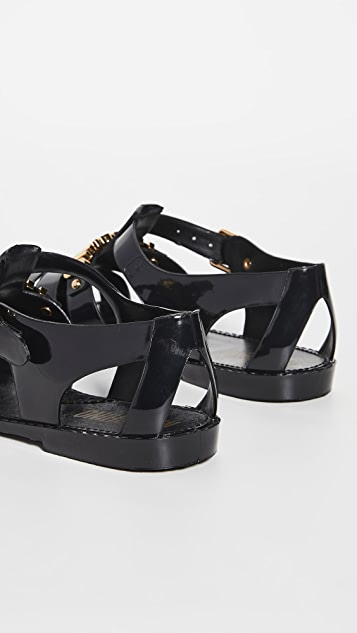 Moschino Rubber Fisherman Sandals