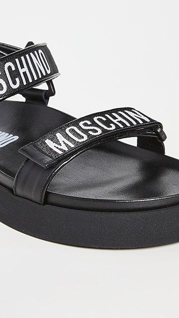 Moschino Logo Sandals