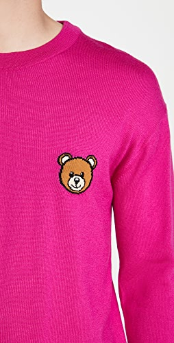 Moschino - Bear Logo Wool Crew Neck Sweater