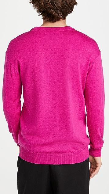 Moschino Bear Logo Wool Crew Neck Sweater