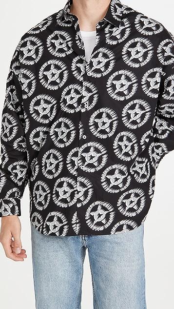 Moschino Fantasy Print Poplin Button Down Shirt