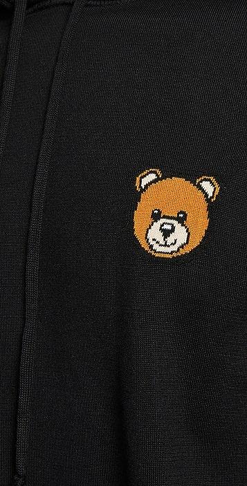 Moschino Bear Logo Pullover Hoodie
