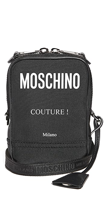 Moschino Moschino Logo Nylon Crossbody