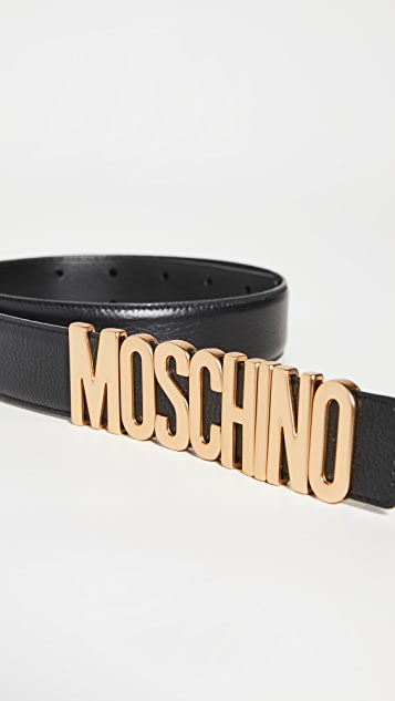Moschino Moschino Logo Leather Belt