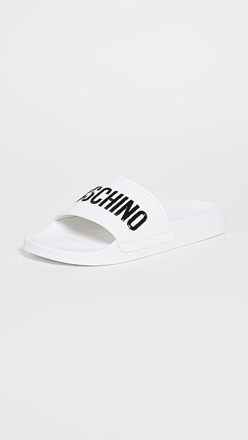 Moschino Moschino Rubber Pool Slides