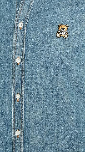 Moschino Bear Chambray Shirt