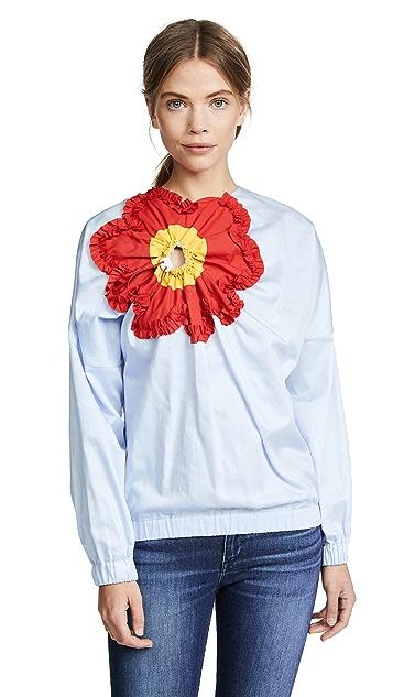 Marianna Senchina Long Sleeve Flower Top