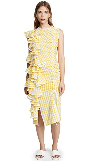 Marianna Senchina Asymmetrical Ruffled Dress