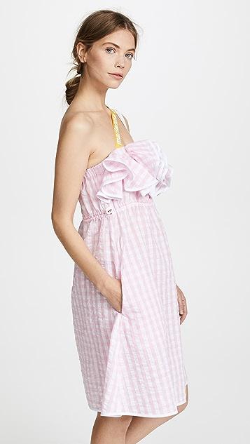 Marianna Senchina Ruffle Seersucker Dress