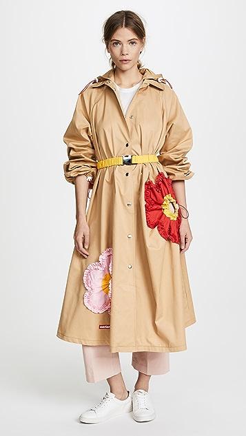 Marianna Senchina Flower Trench Coat