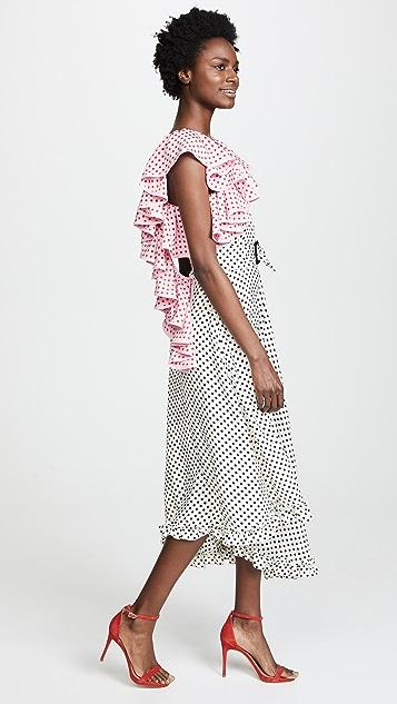 Marianna Senchina Ruffle Collar Dress