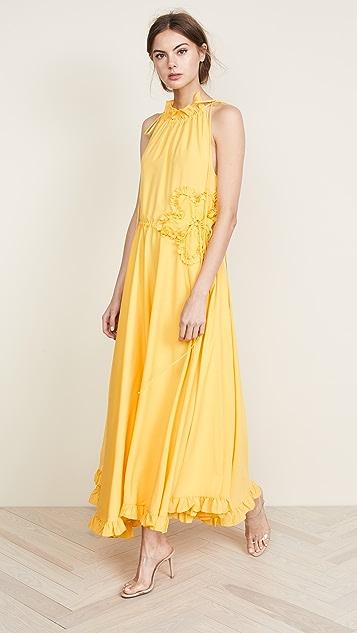 Marianna Senchina High Neck Gown - Yellow