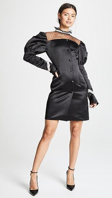 Marianna Senchina Net Shoulder Mini Dress