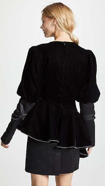 Marianna Senchina Velvet Mini Dress