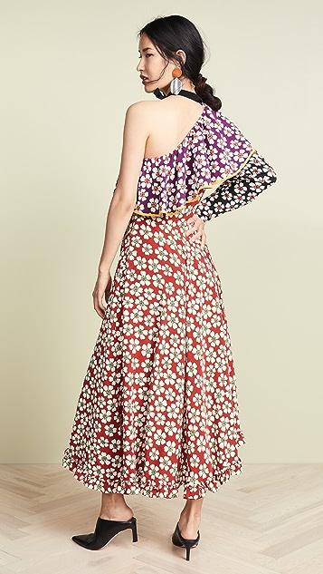 Marianna Senchina Asymmetric Midi Dress