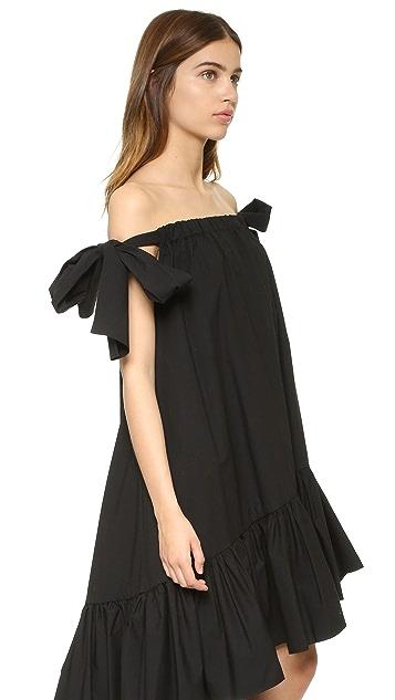MSGM Off Shoulder Dress