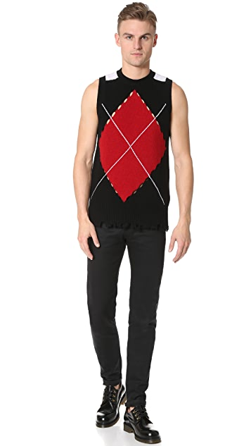 MSGM Argyle Sweater Vest