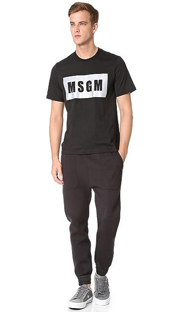 MSGM Box Logo Tee