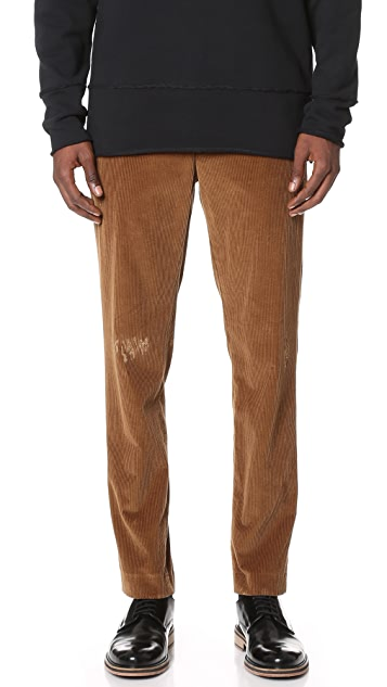 MSGM Distressed Corduroy Pants