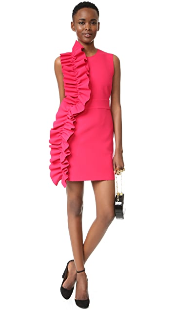MSGM Ruffle Crepe Dress