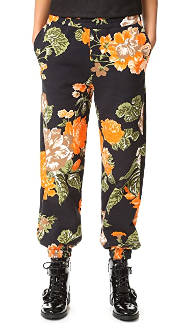 MSGM Floral Jogger Pants