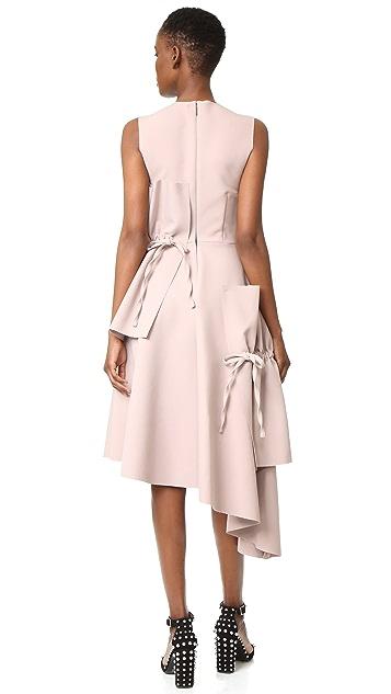 MSGM Midi Dress with Ties