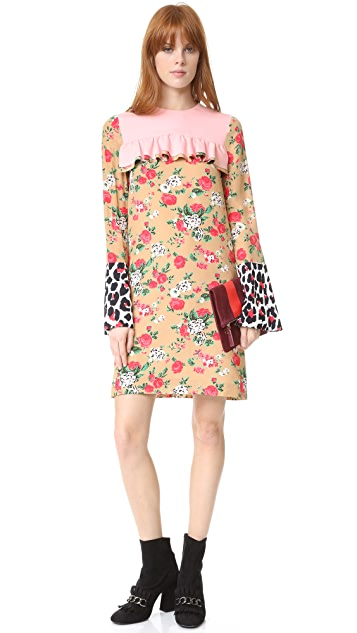 MSGM Mixed Media Dress