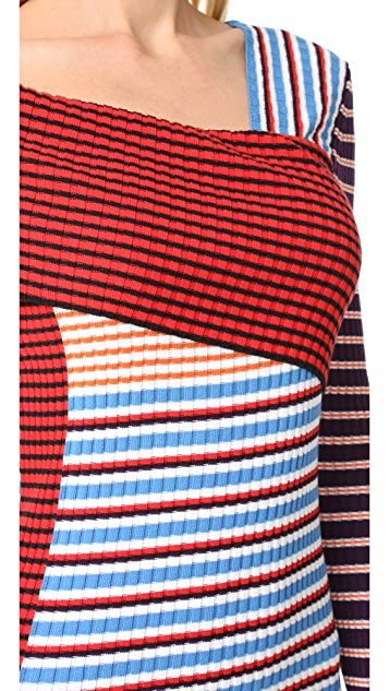 MSGM Asymmetrical Knit Dress