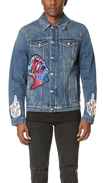 MSGM Denim Jacket with Patches