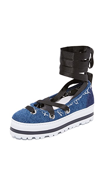 MSGM Ballerina Slip On Sneakers