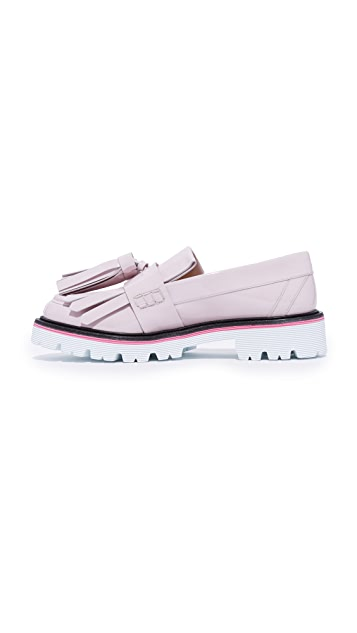 MSGM Fringe Tassel Loafers