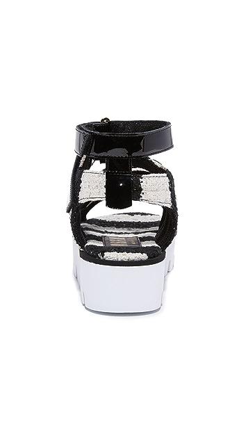 MSGM Multi Strap Sandals
